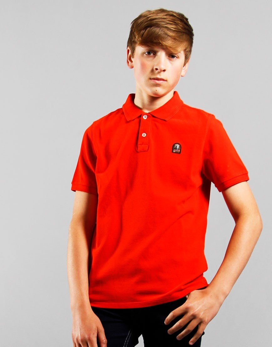 Parajumpers Kids Patch Polo Shirt Orange