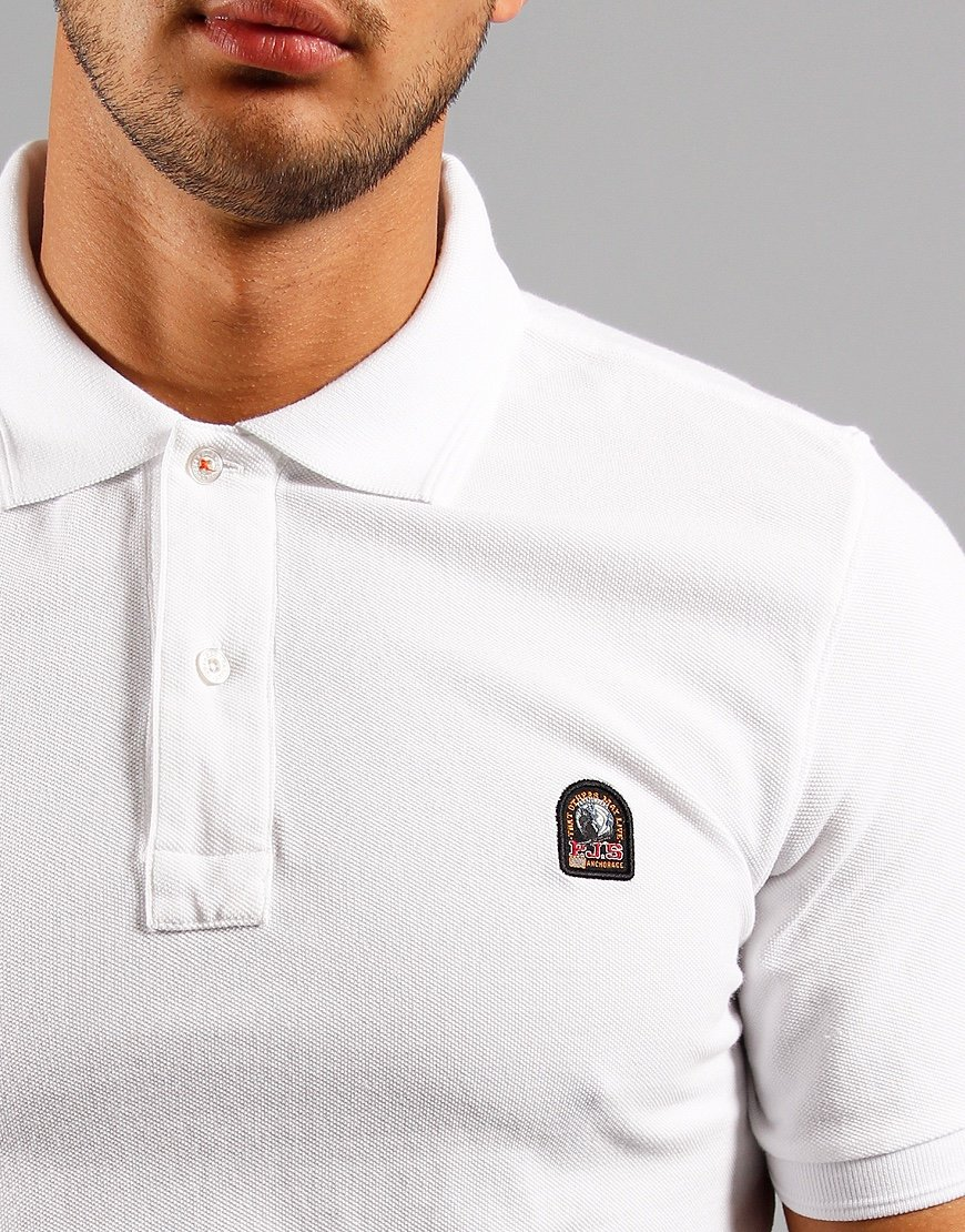 Parajumpers Patch Polo Shirt White