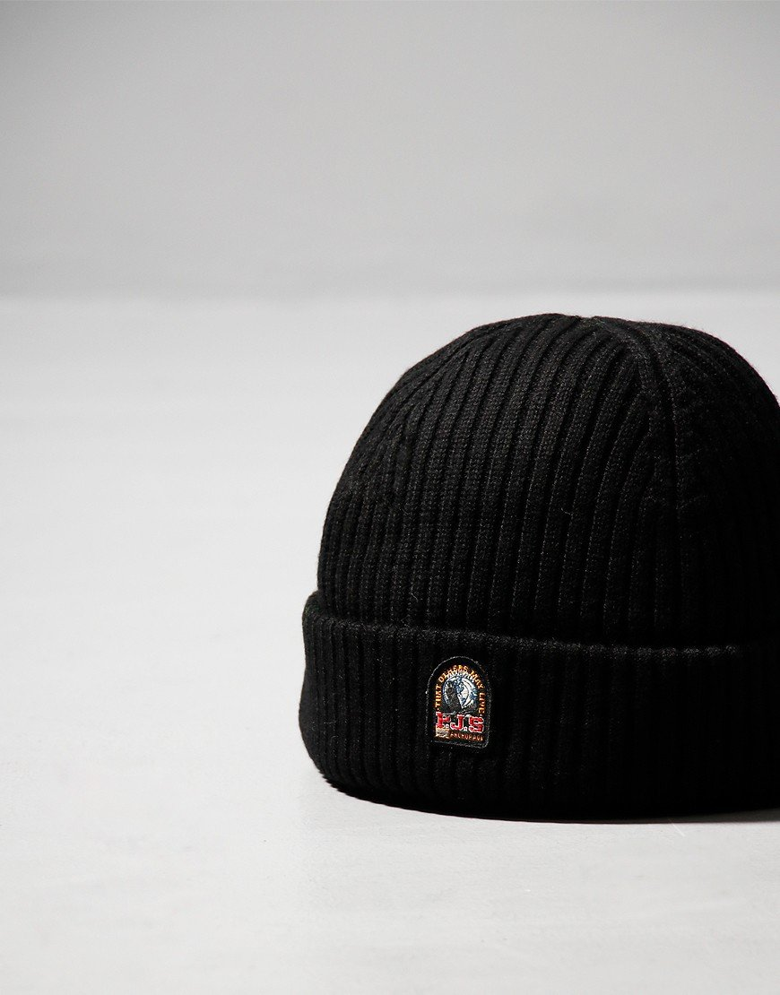 Parajumpers Ribbed Beanie Hat Black