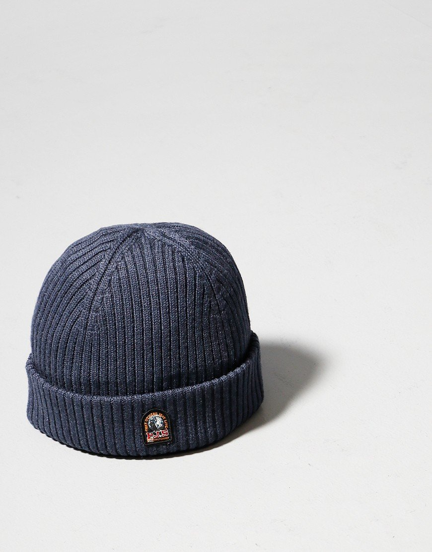 Parajumpers Ribbed Beanie Hat Navy