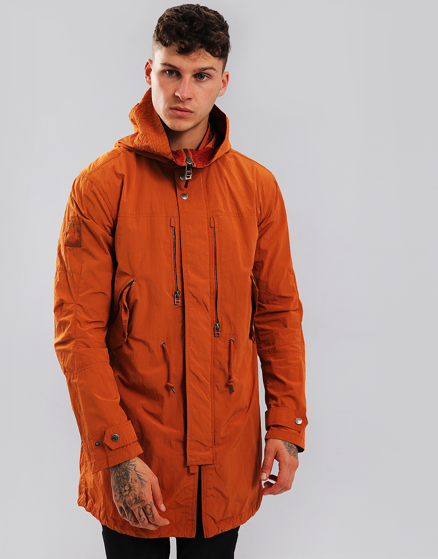Pretty Green Cambrai Fish Tail Parka Spice