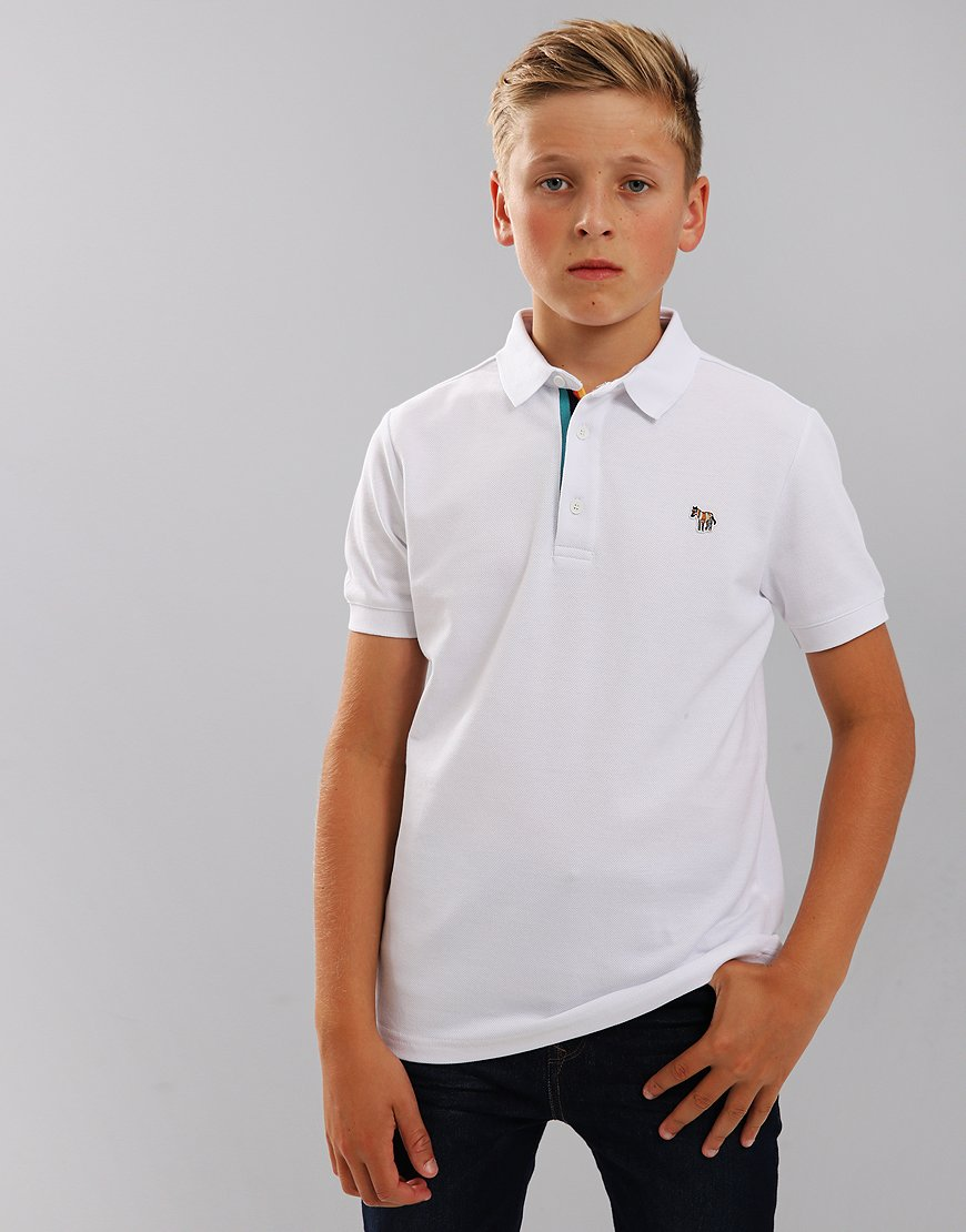 Paul Smith Junior Ridley Per Polo Shirt White