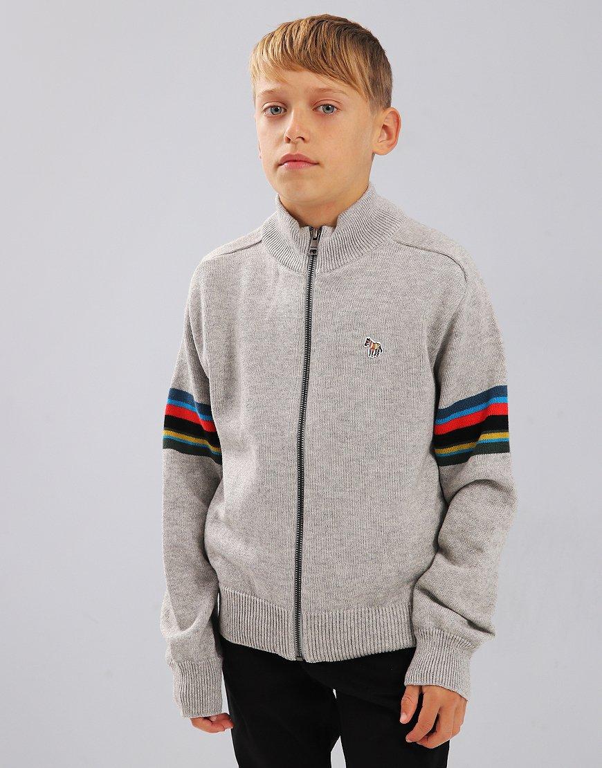 Paul Smith Junior Selim Knitted Zip Jumper Marl Grey