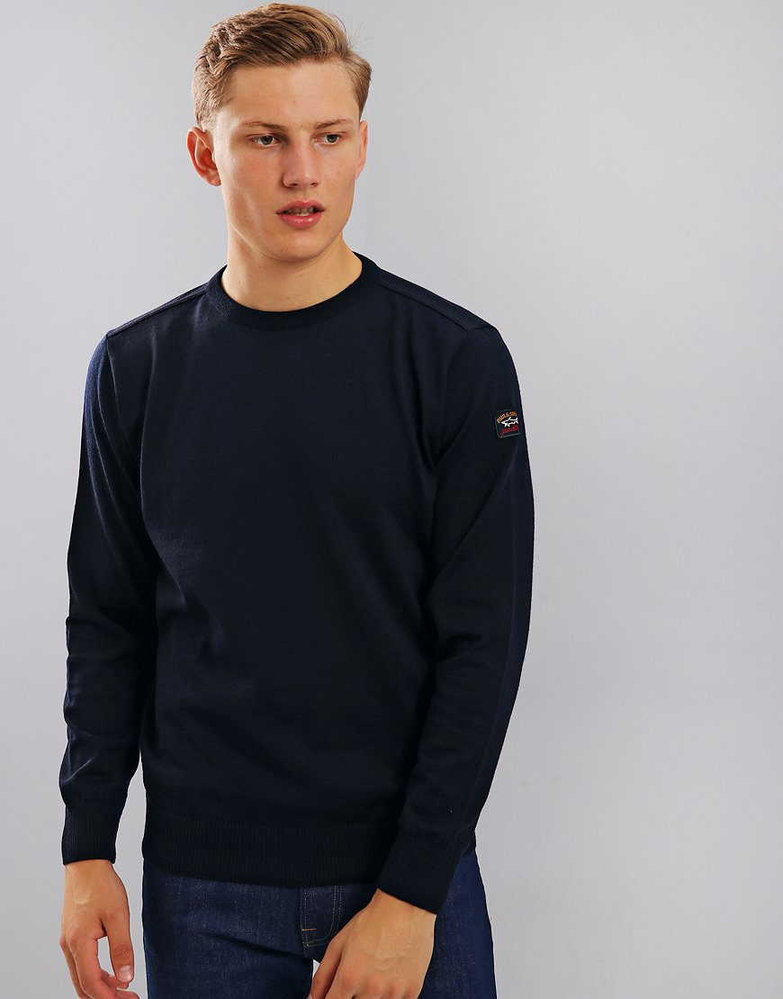 Paul & Shark Crew Neck Jumper Blue