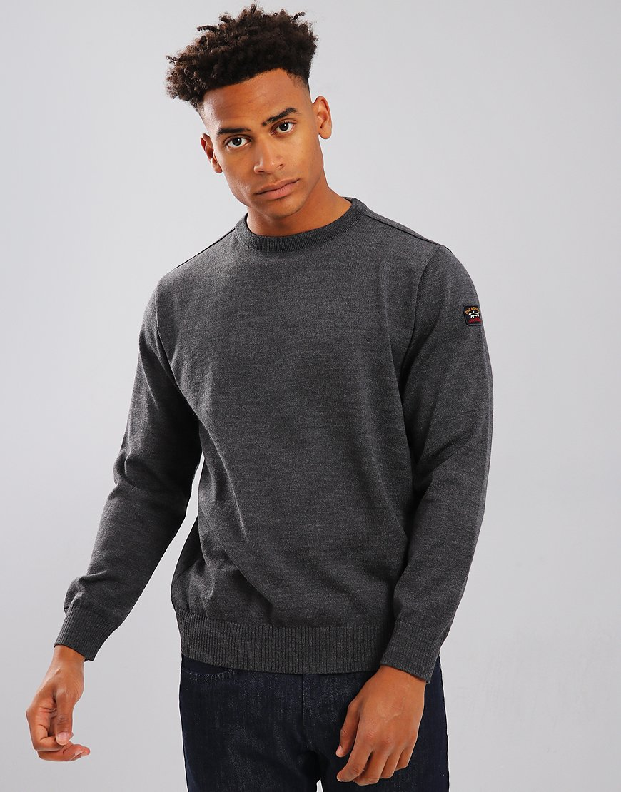 Paul & Shark Crew Neck Jumper Charcoal