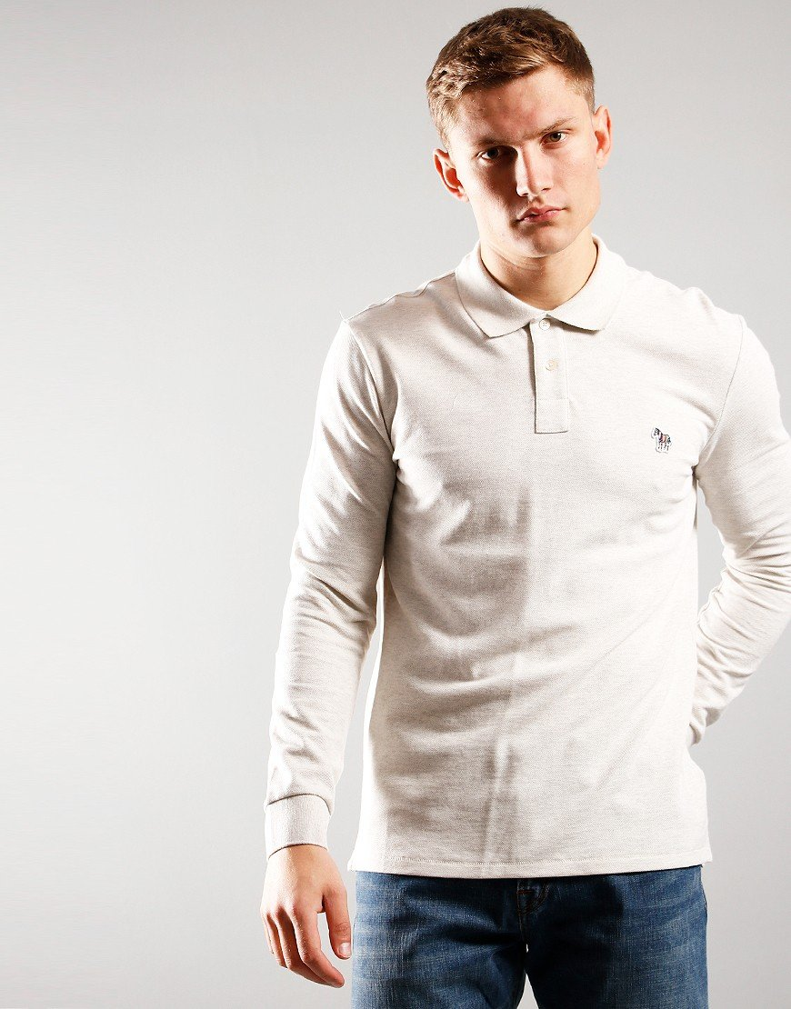 Paul Smith Long Sleeve Regular Fit Polo Shirt  02 Off White