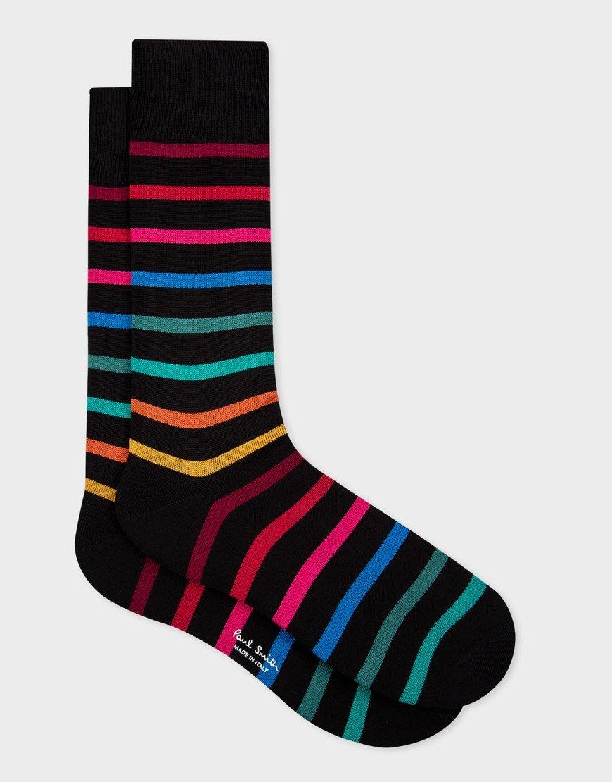 Paul Smith Percy Stripe 79 Socks Black