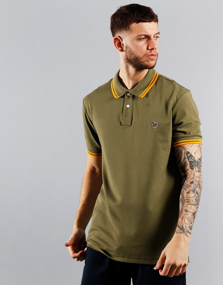 Paul Smith Tipped Polo Shirt Light Green