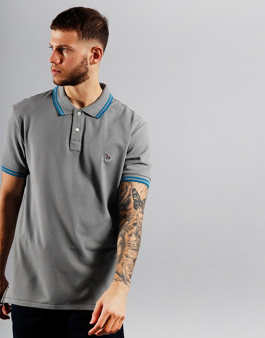 Paul Smith Tipped Polo Shirt Taupe