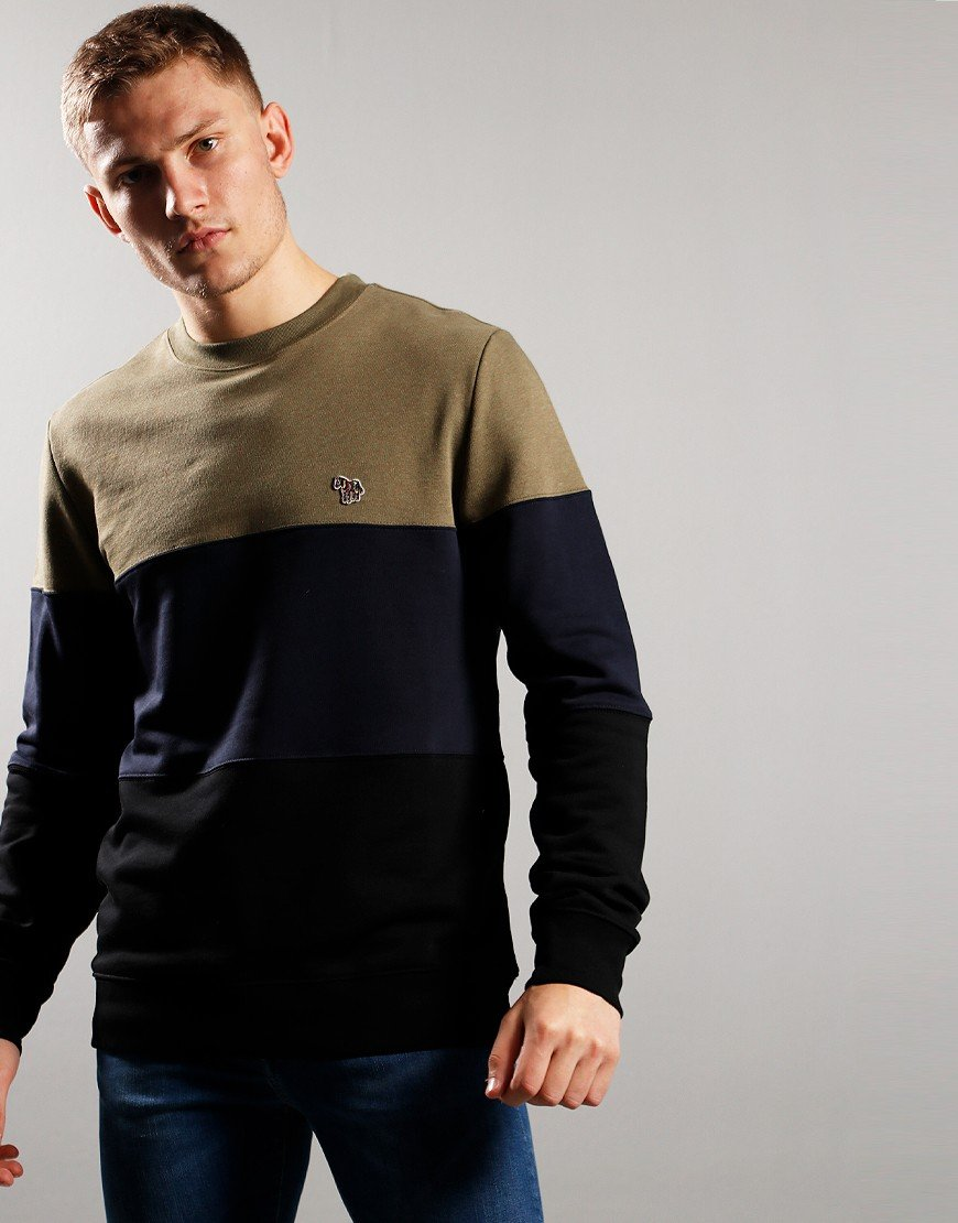 Paul Smith Regular Fit Sweat Black/Navy/Khaki