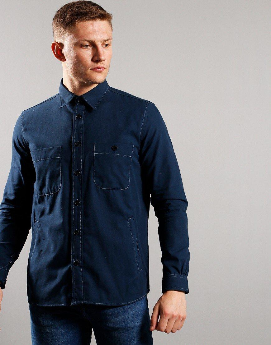 Paul Smith Long Sleeve 4 Pocket Shirt Navy