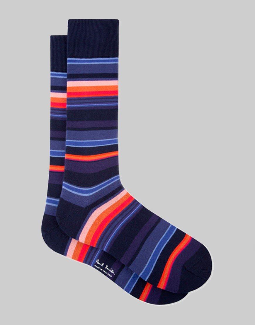 Paul Smith Horizon Stripe Socks Navy