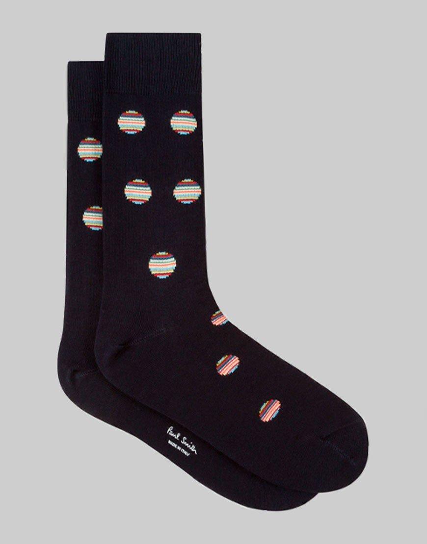 Paul Smith Multi Polka Dot Socks Black