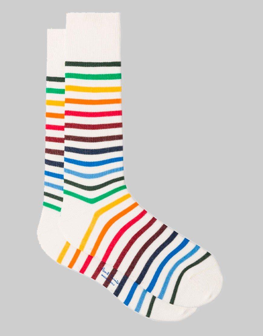 Paul Smith Neo Rainbow Socks Off White
