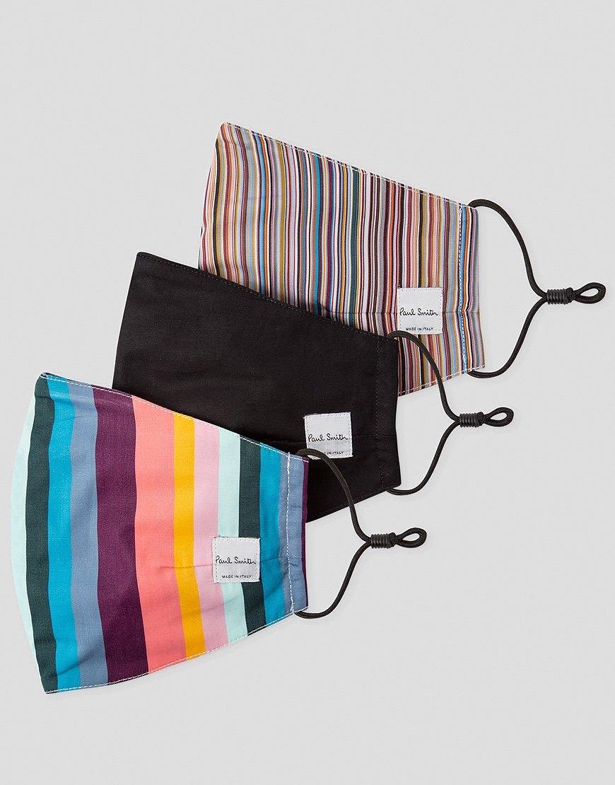 Paul Smith Artist Stripe & Signature Stripe Print Face Coverings Three Pack