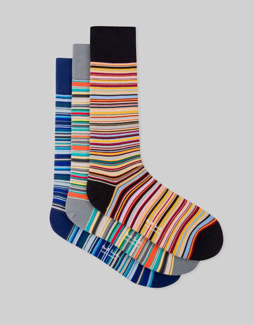 Paul Smith 3 Pack Socks Signature Stripes