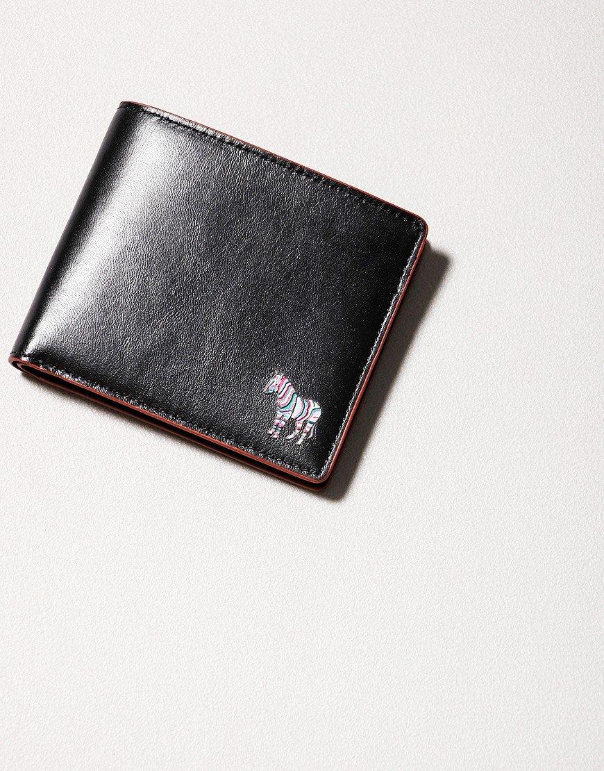 Paul Smith Billford Zebra Leather Wallet Black