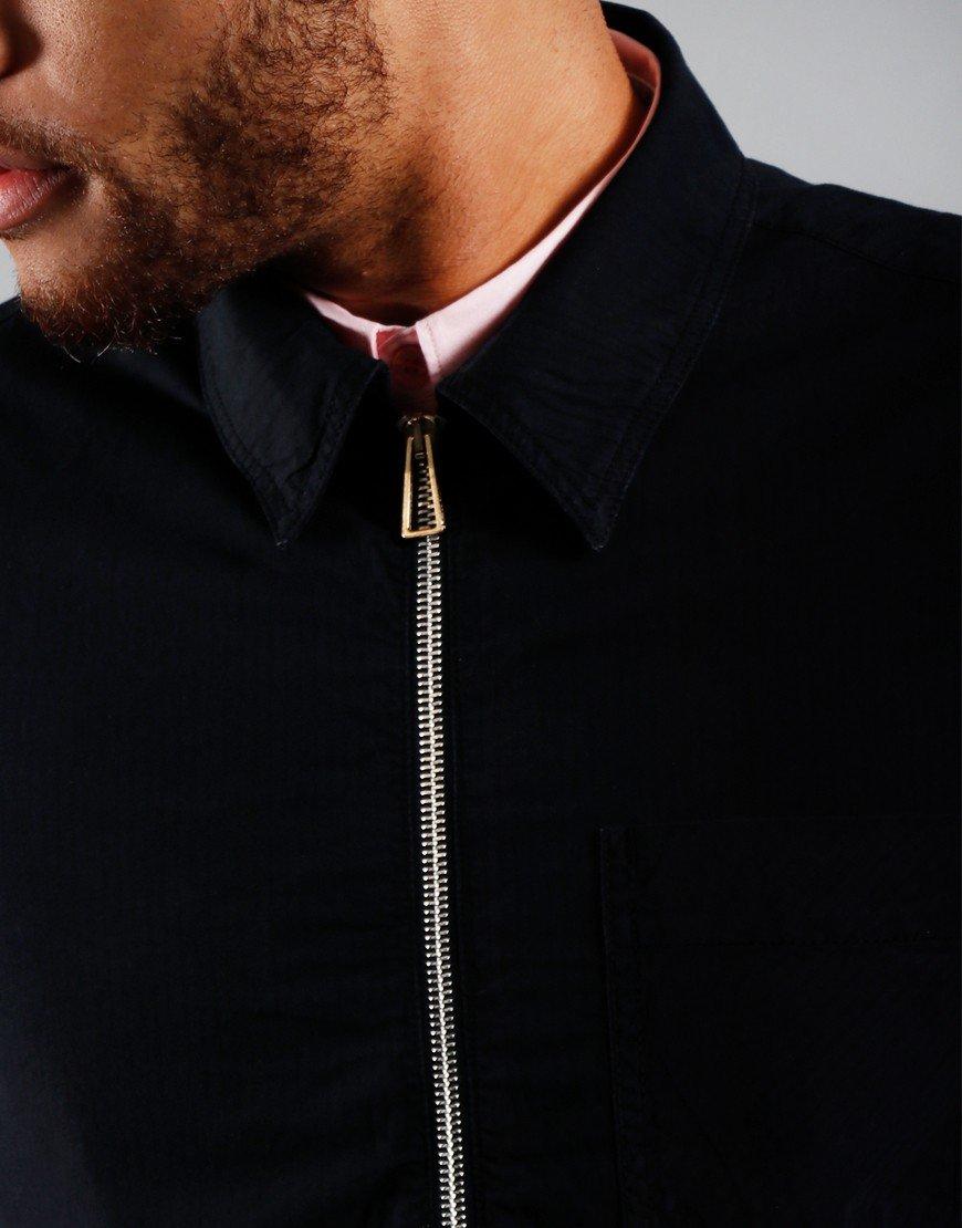 Paul Smith Zip Front Overshirt Dark Navy