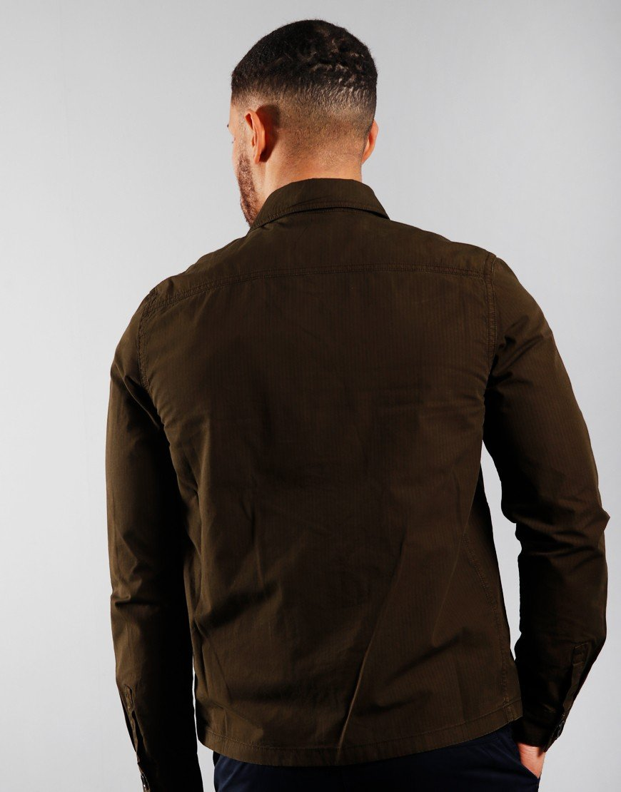 Paul Smith Zip Front Overshirt Olive