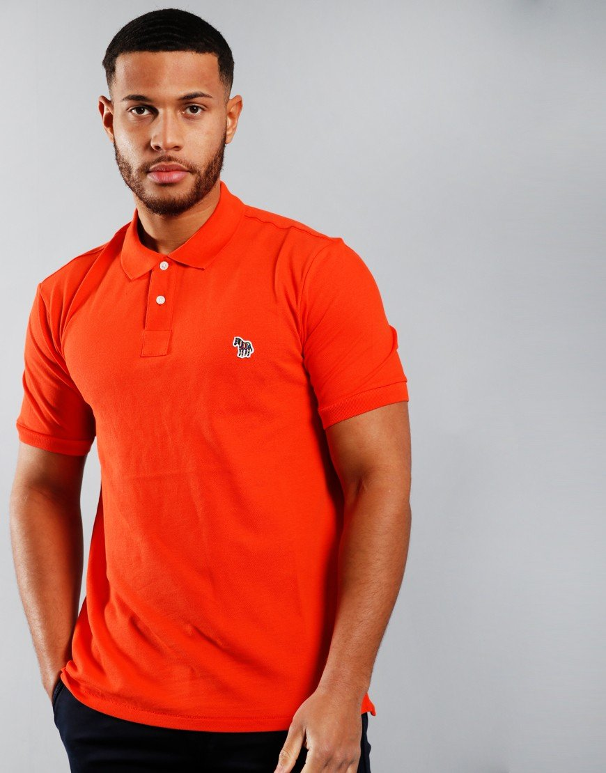 Paul Smith Regular Fit Polo Shirt Dark Orange