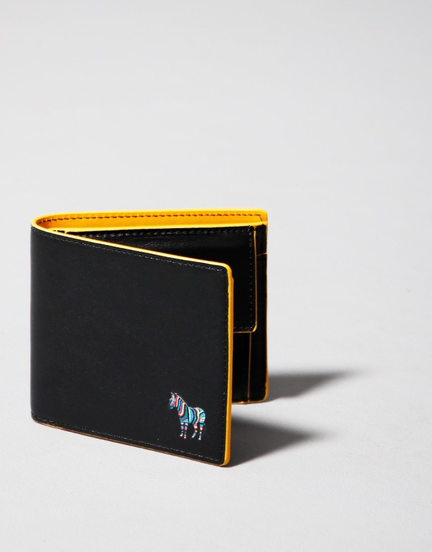 Paul Smith Bifold Zebra Wallet Yellow/Black Melange