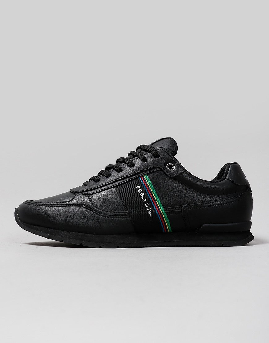 Paul Smith Leather Ericson Trainers Black