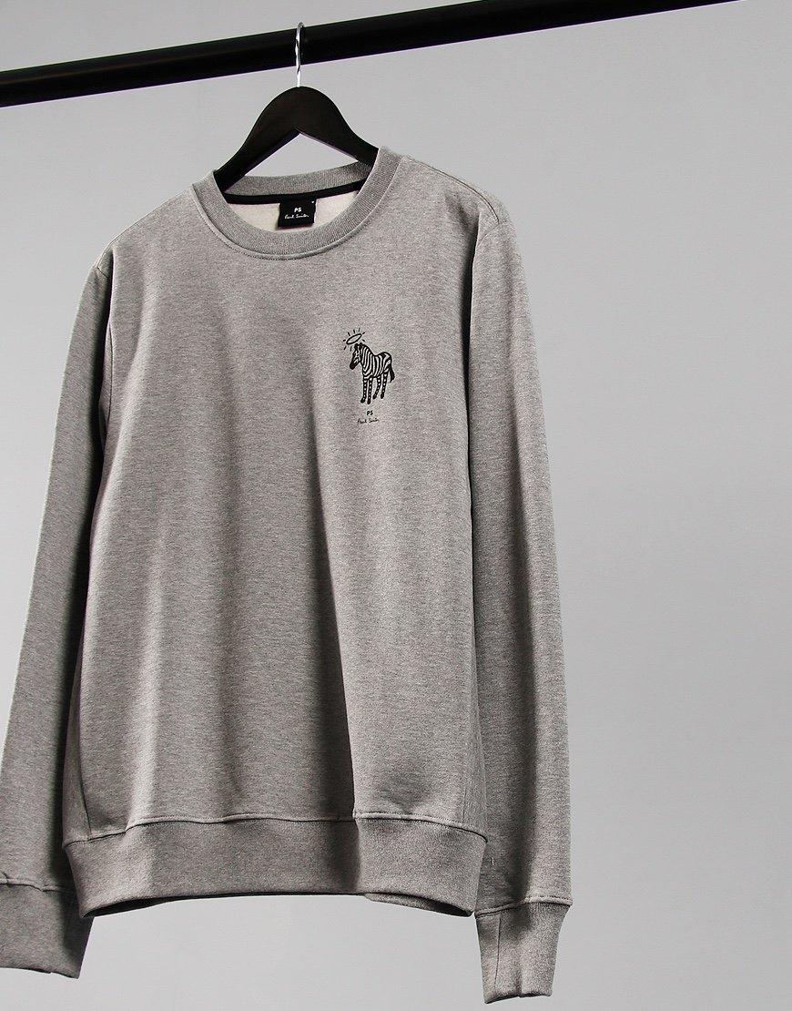 Paul Smith Halo Zebra Sweatshirt Grey Melange