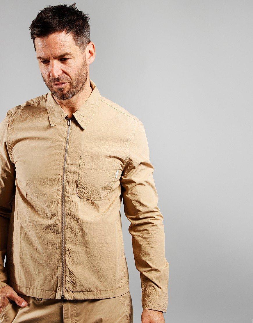 Paul Smith Zip Front Overshirt Khaki