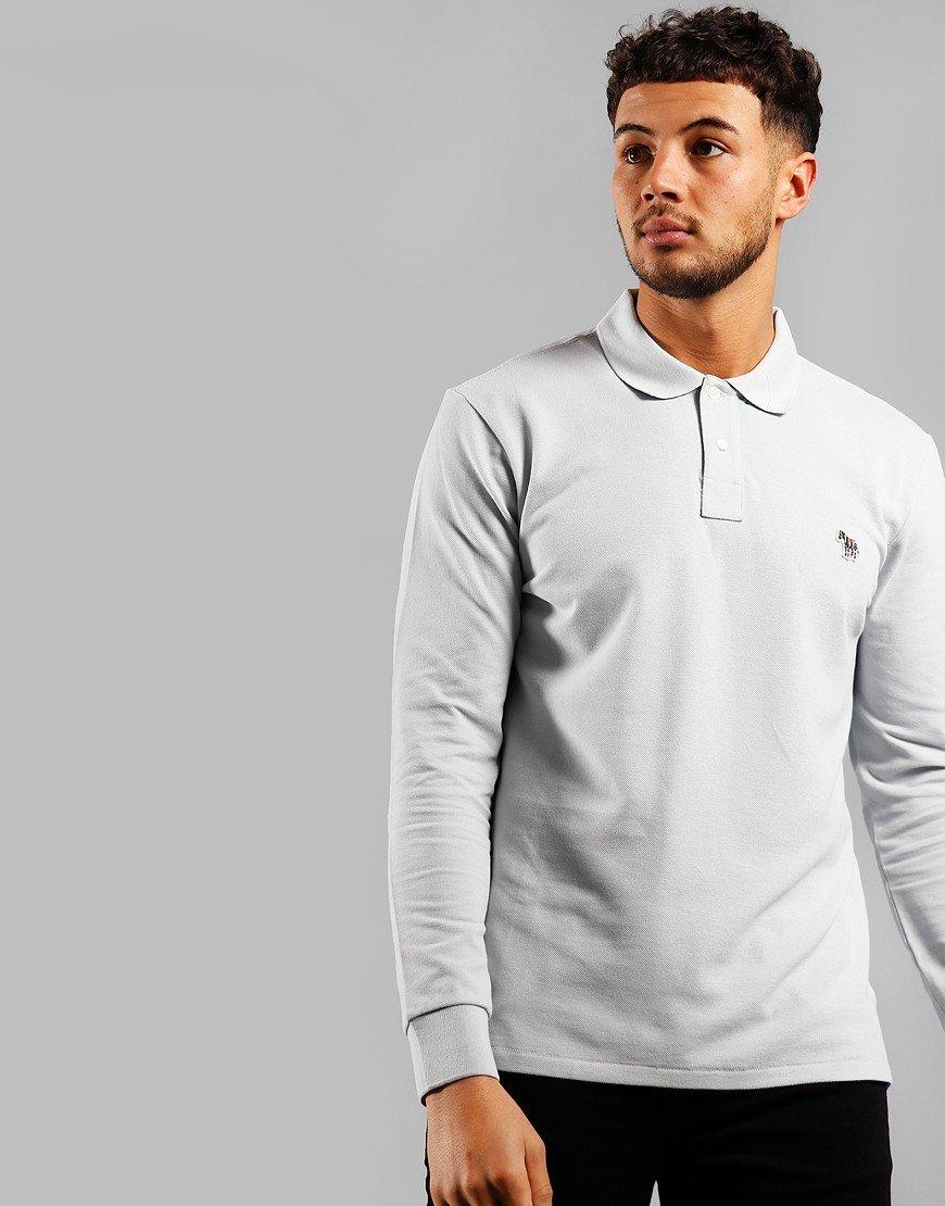 Paul Smith Long Sleeve Regular Fit Polo Shirt Pale Blue