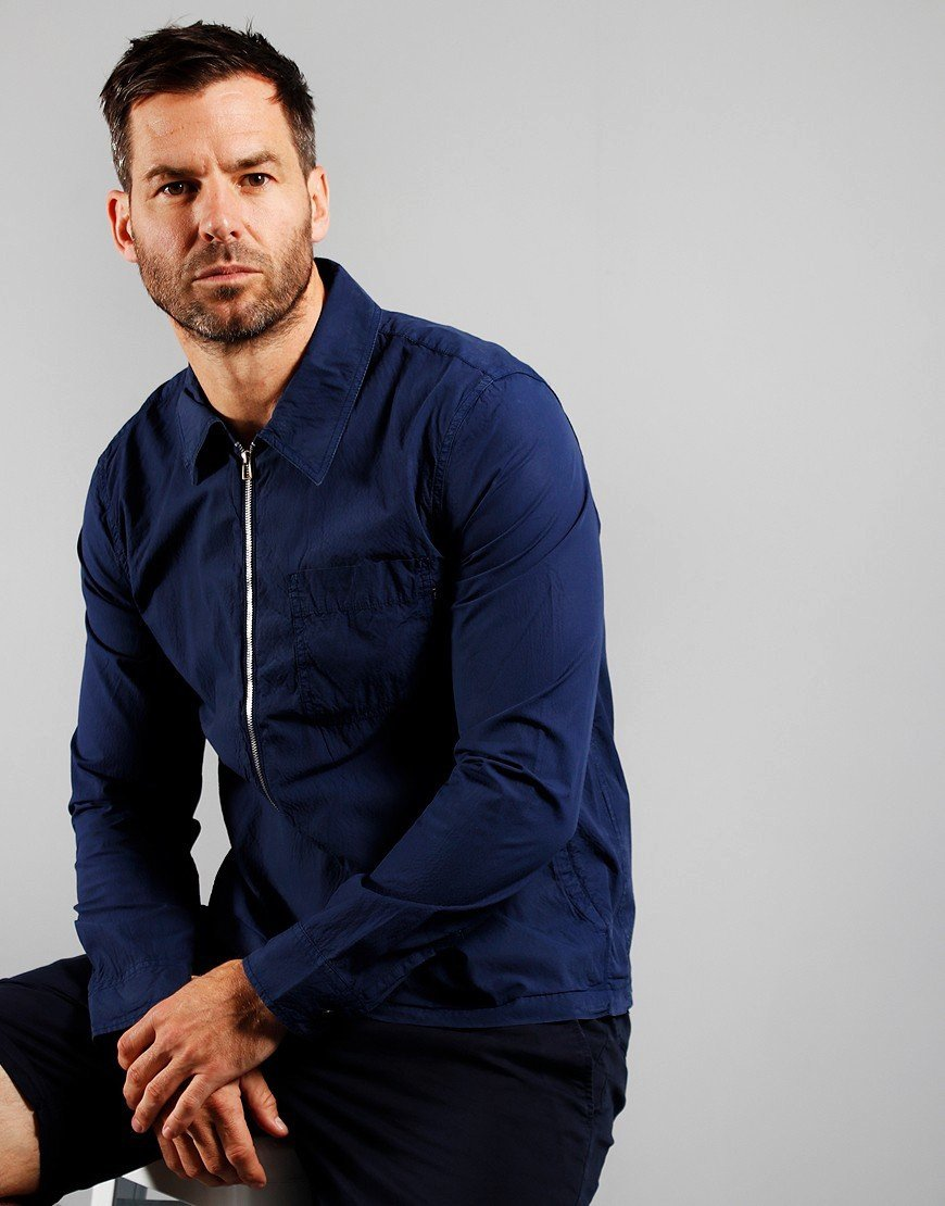 Paul Smith Zip Front Overshirt Indigo
