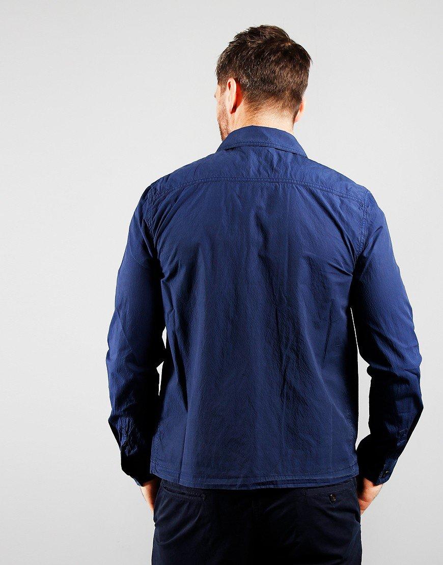Paul Smith Zip Front Overshirt Indigo