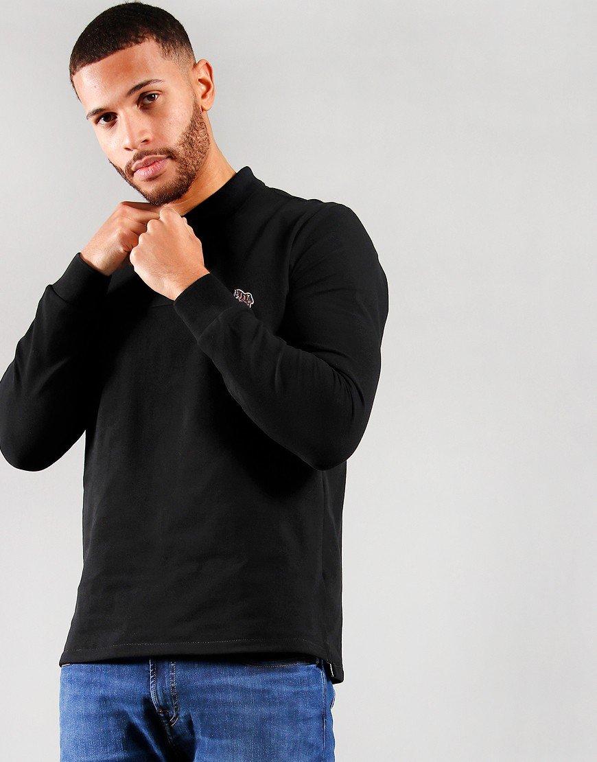 Paul Smith Long Sleeved Regular Fit Polo Shirt Black