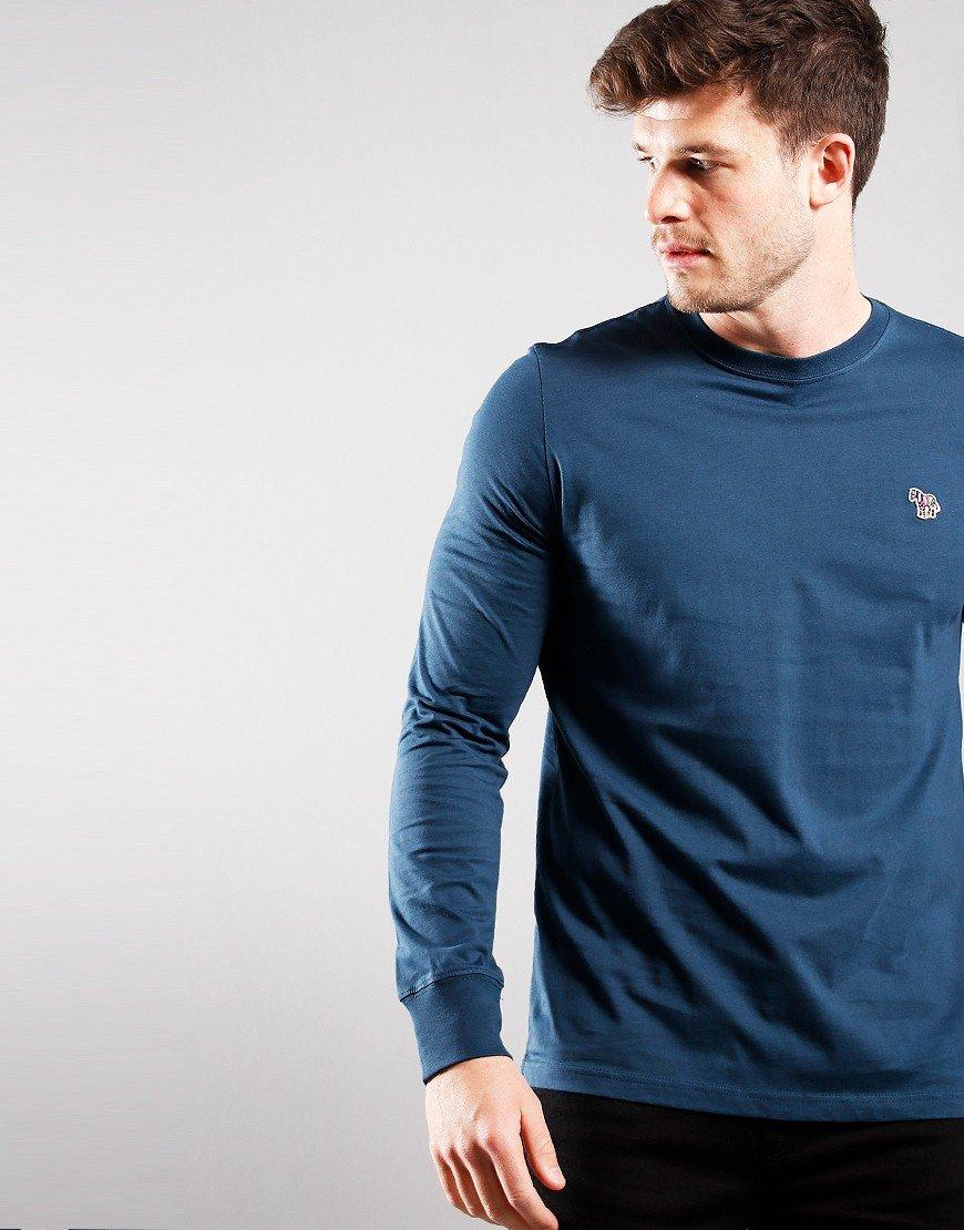 Paul Smith Long Sleeve Regular Fit T-Shirt Petrol Blue