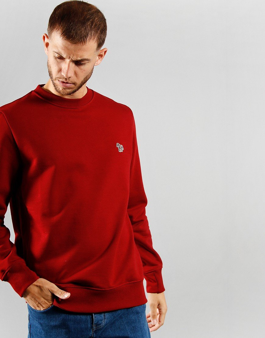 Paul Smith Long Sleeve Zebra Sweat Red