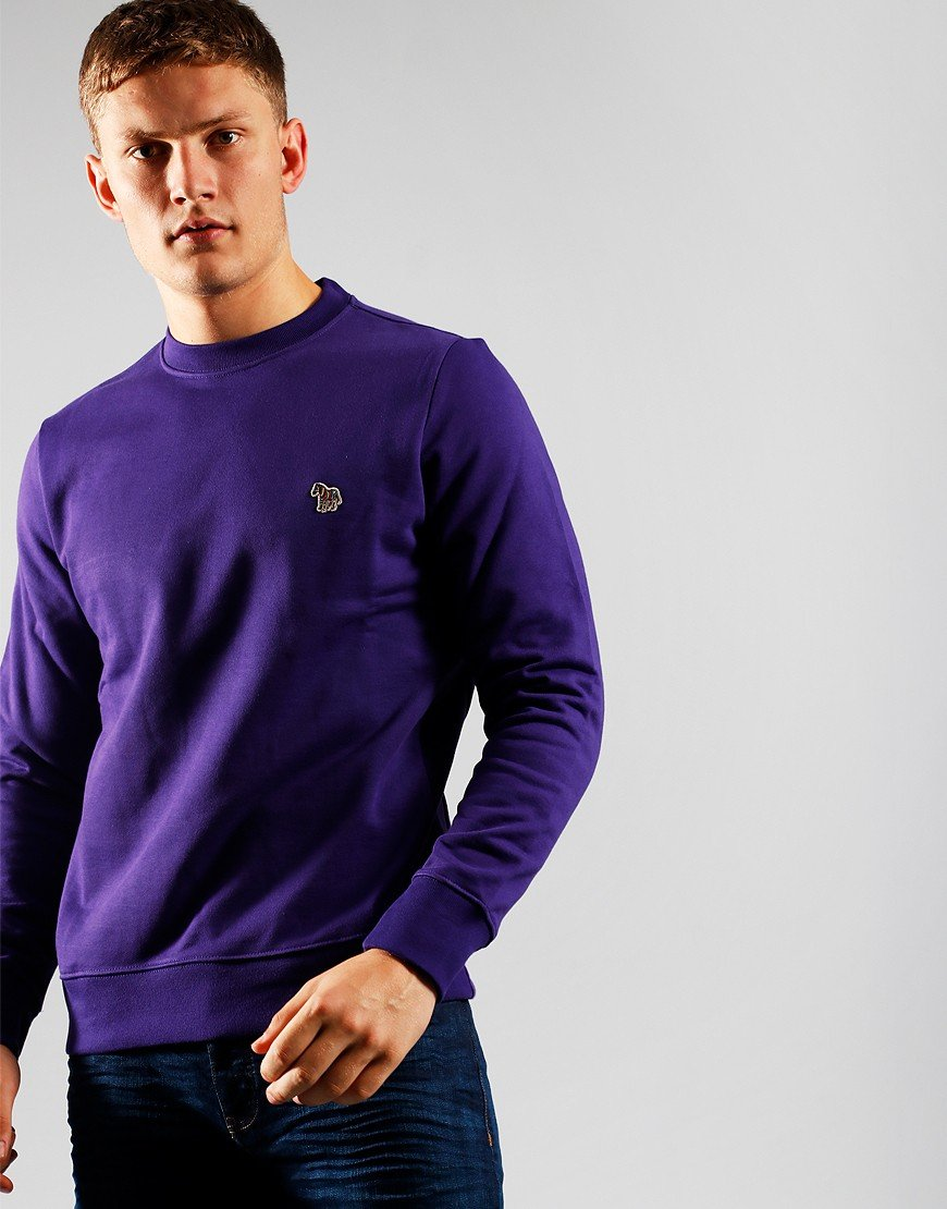 Paul Smith Zebra Logo Sweatshirt Purple