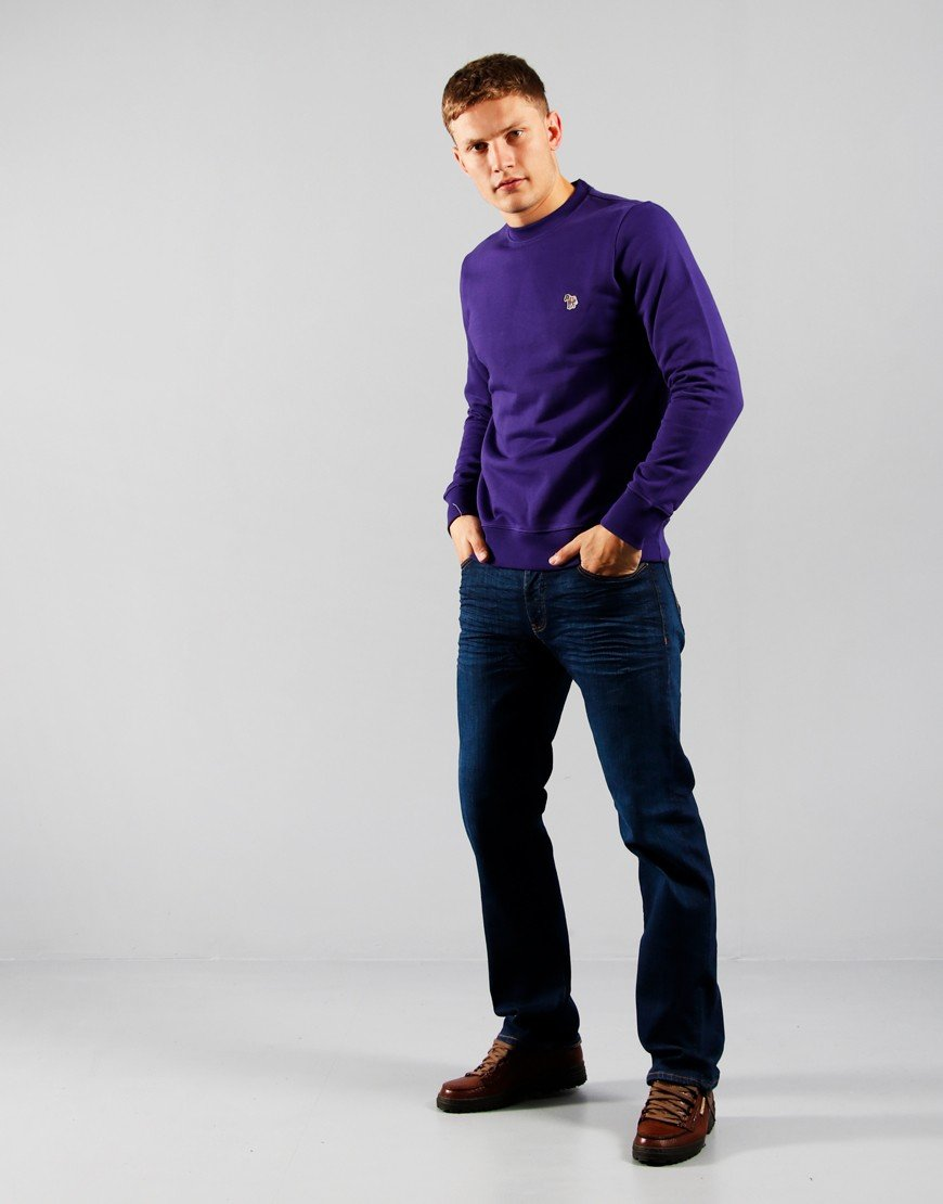Paul Smith Zebra Logo Sweatshirt Purple
