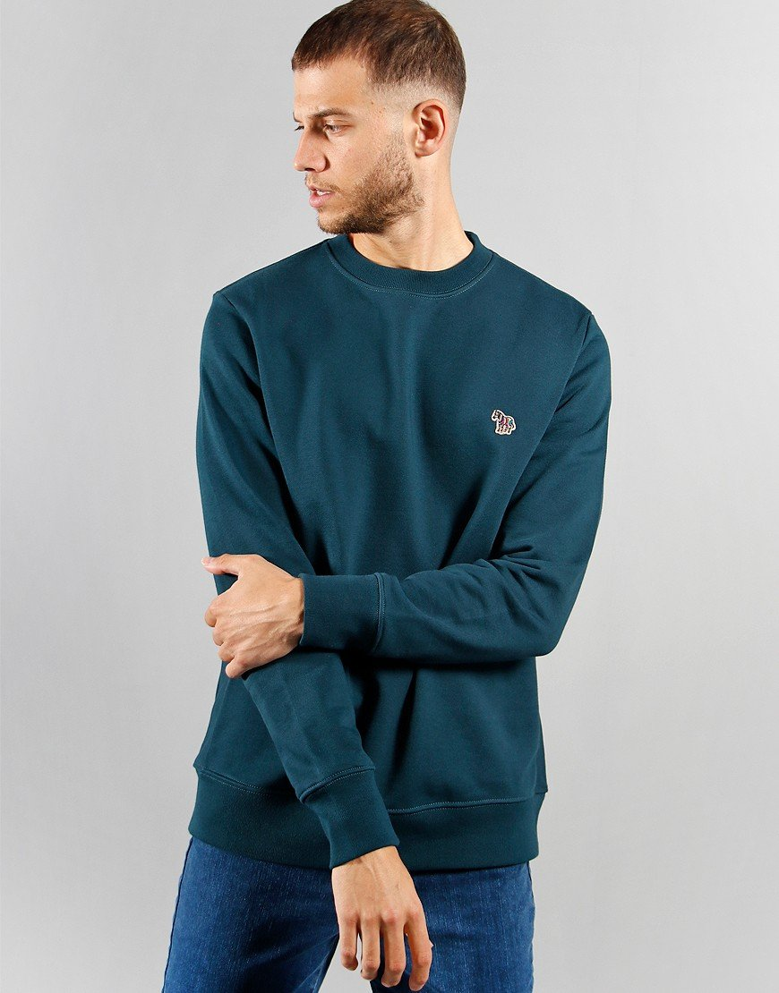 Paul Smith Long Sleeve Zebra Sweat Teal