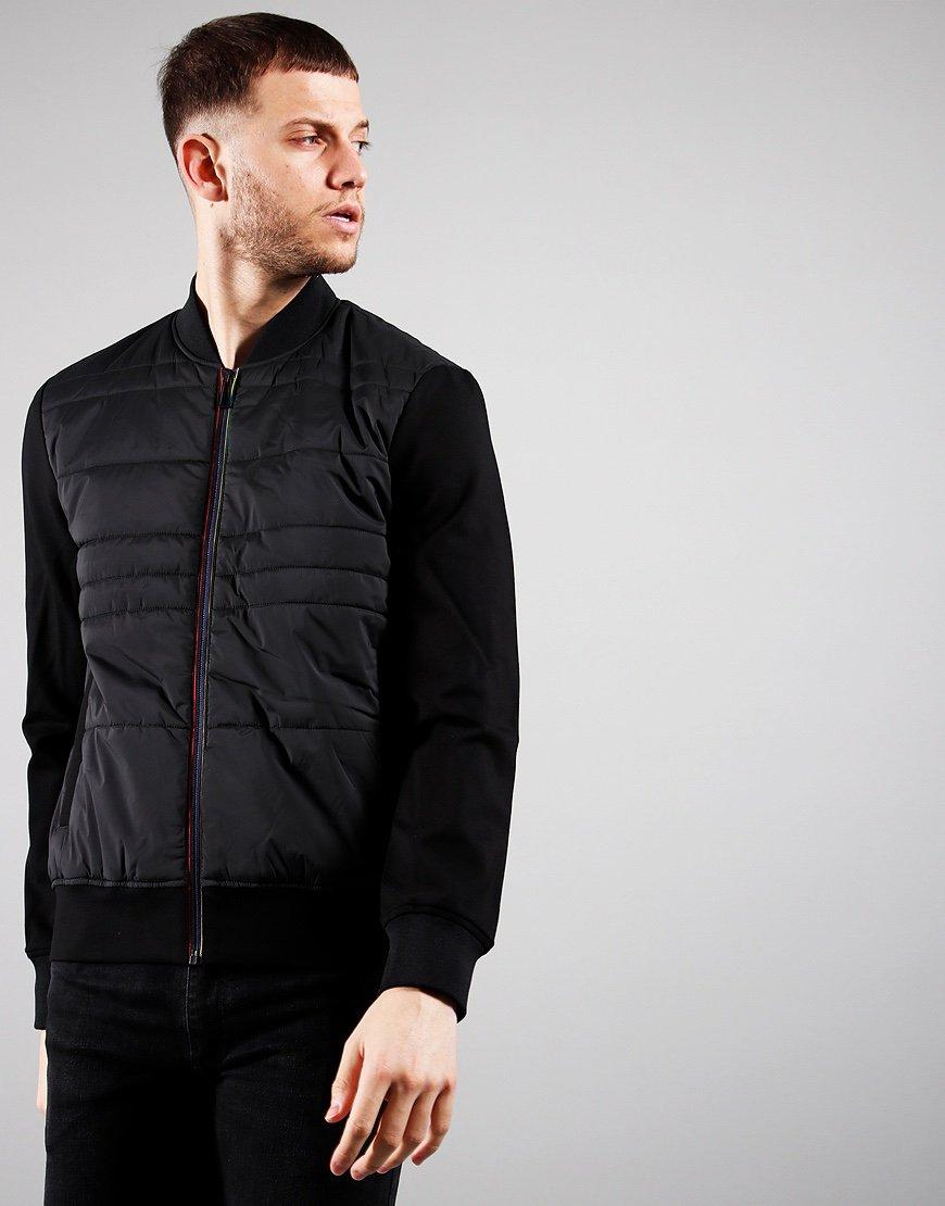 Paul Smith Mix Media Bomber Jacket Black