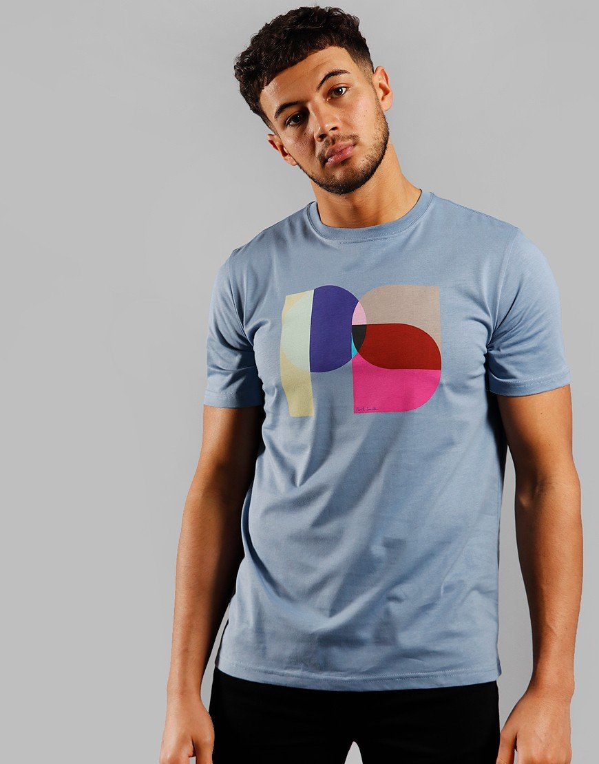 Paul Smith PS Square Logo T-Shirt Blue
