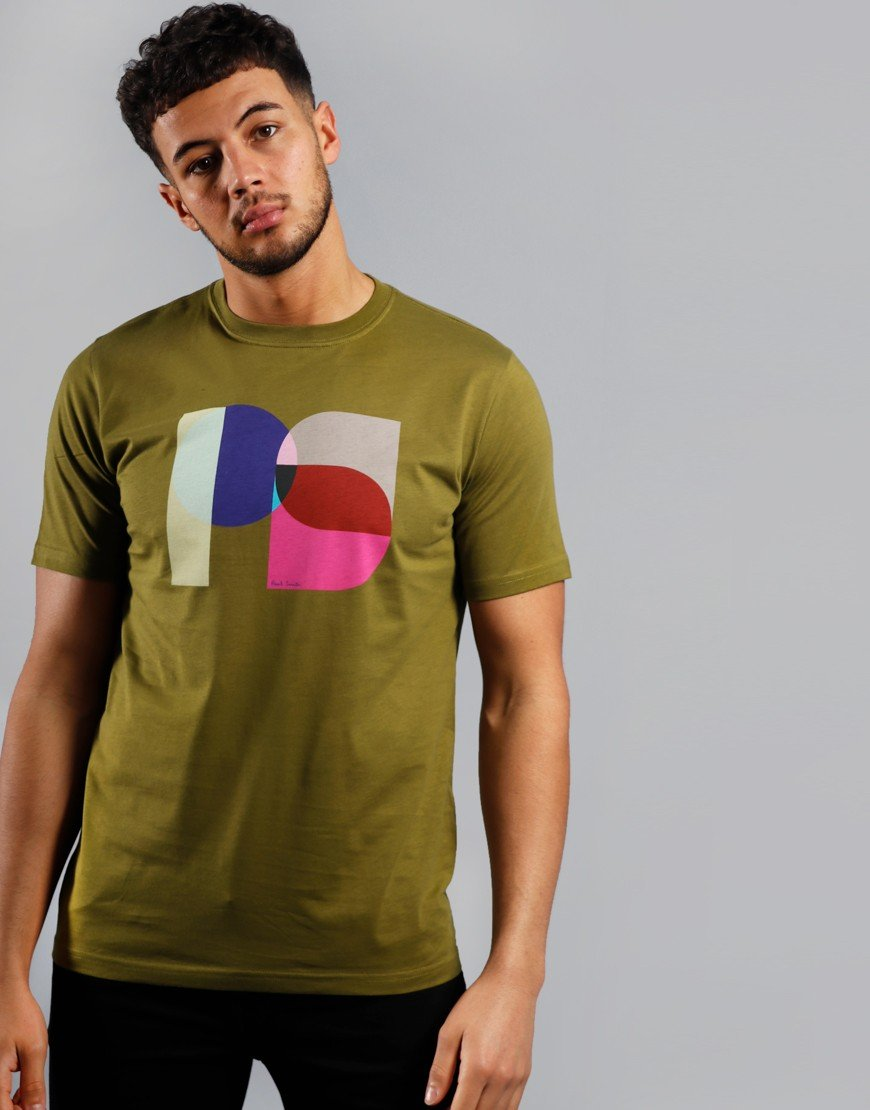 Paul Smith PS Square Logo T-Shirt Pea
