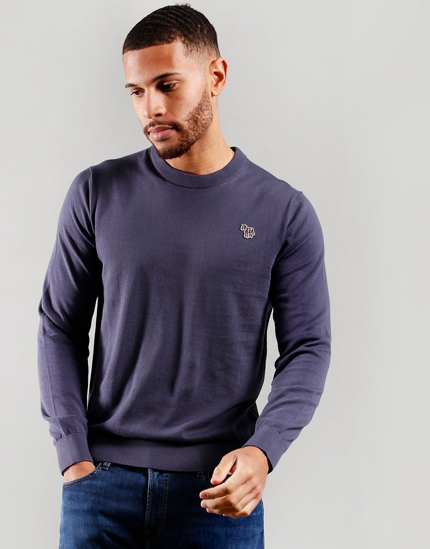 Paul Smith Pullover Crew Neck Knit Grey Blue