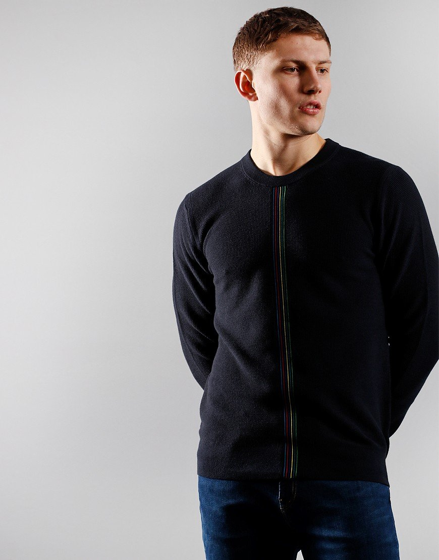 Paul Smith Pullover Stripe Crew Knit Black