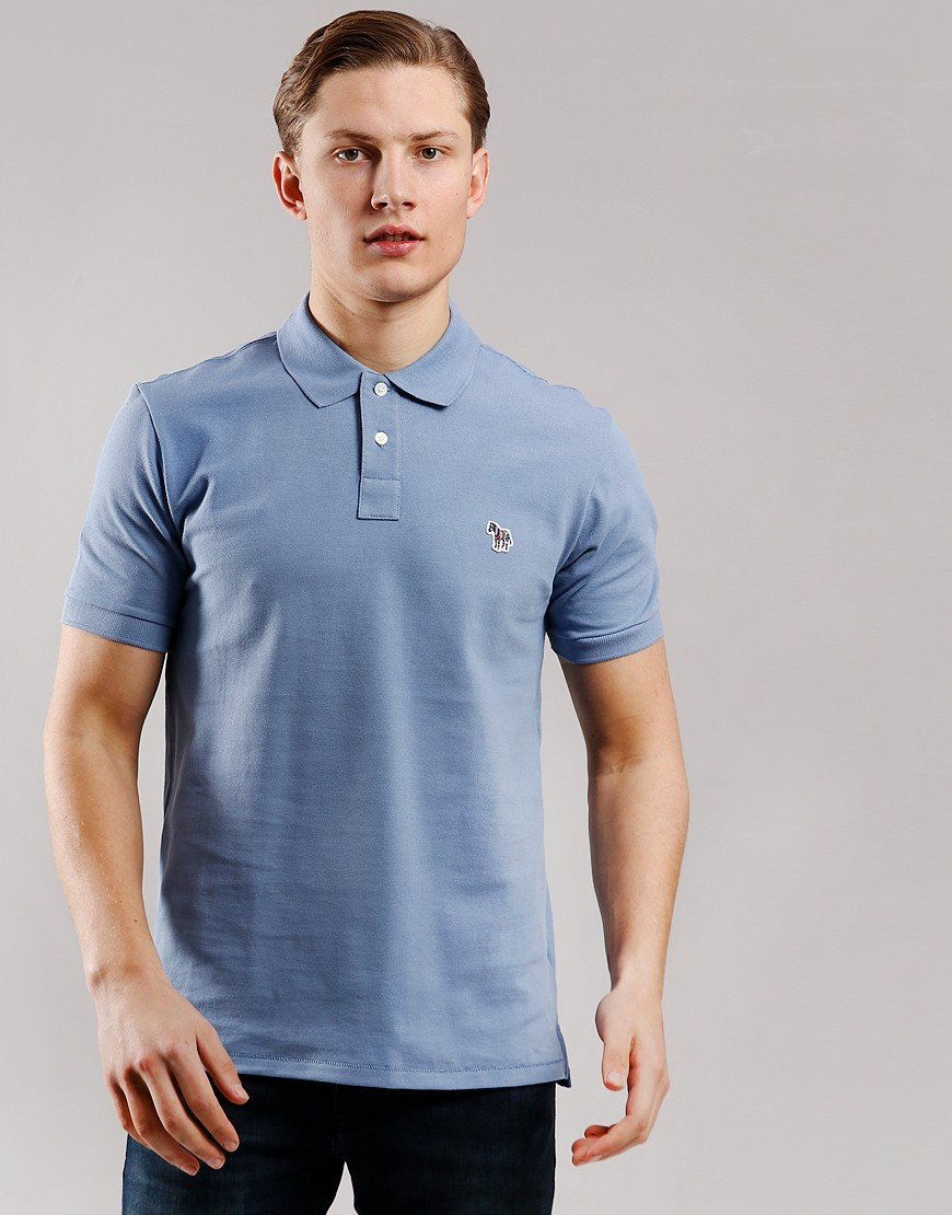 Paul Smith Regular Fit Polo Shirt Blue