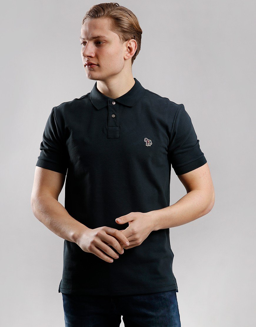 Paul Smith Regular Fit Polo Shirt Black Melange