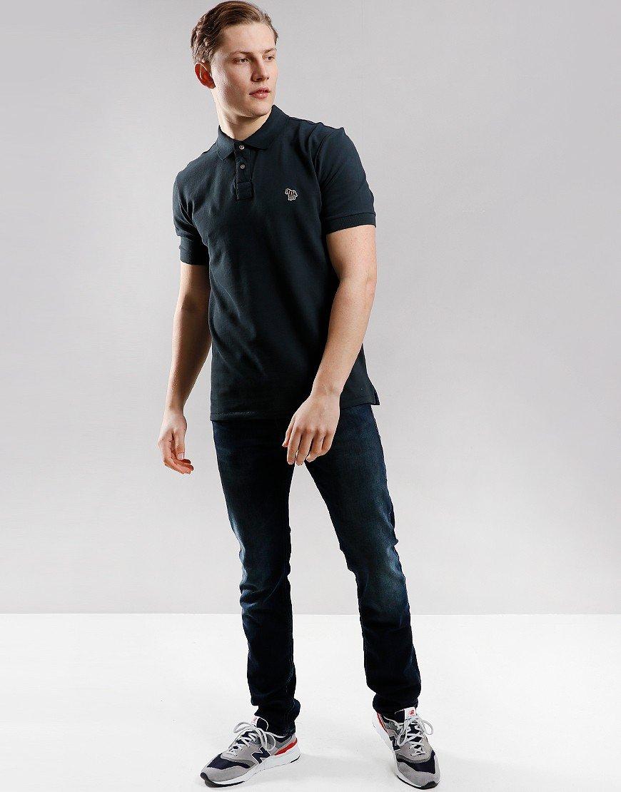 Paul Smith Regular Fit Polo Shirt Black Melange