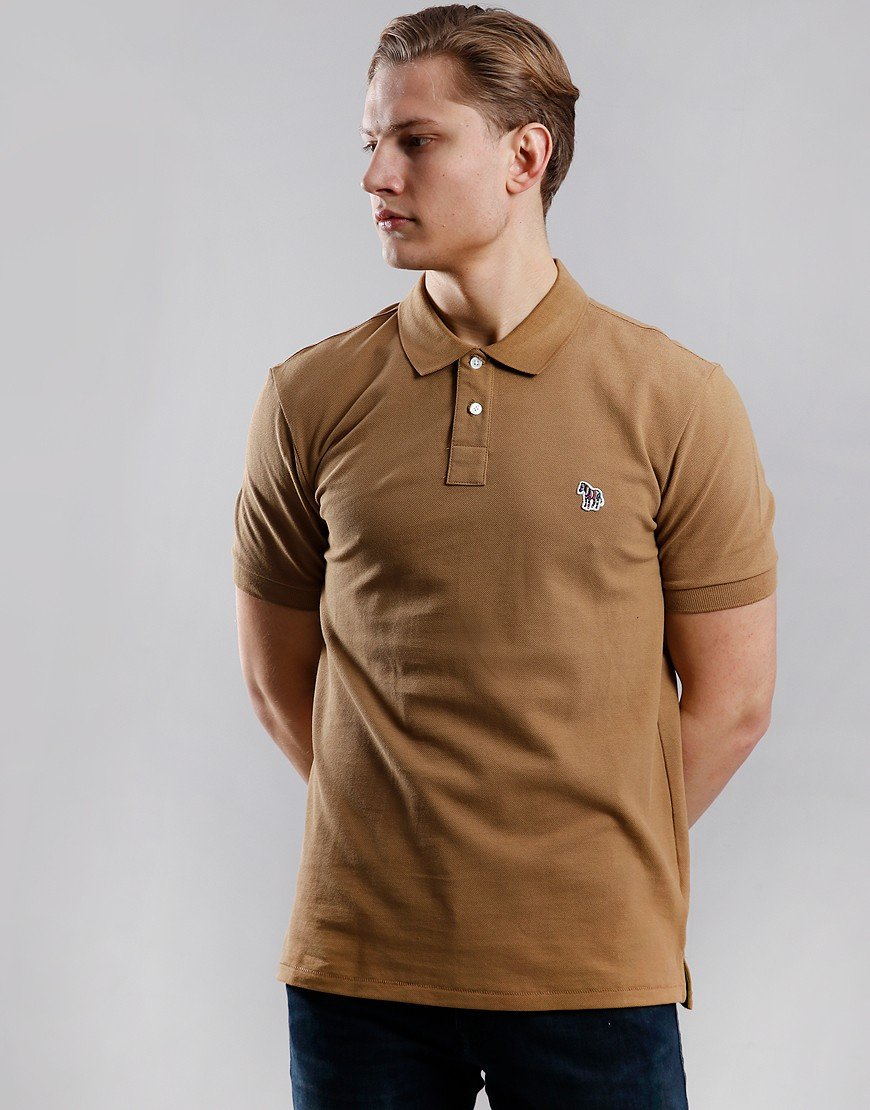 Paul Smith Regular Fit Polo Shirt Camel