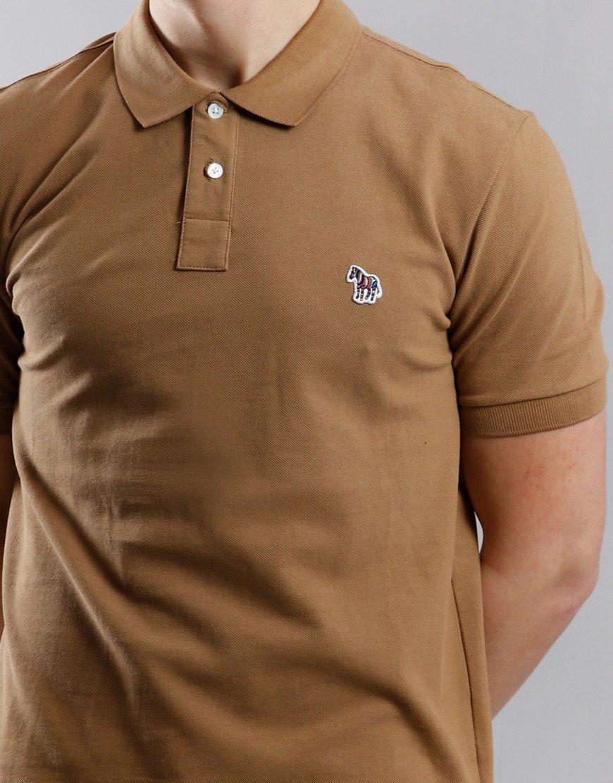 Paul Smith Regular Fit Polo Shirt Camel