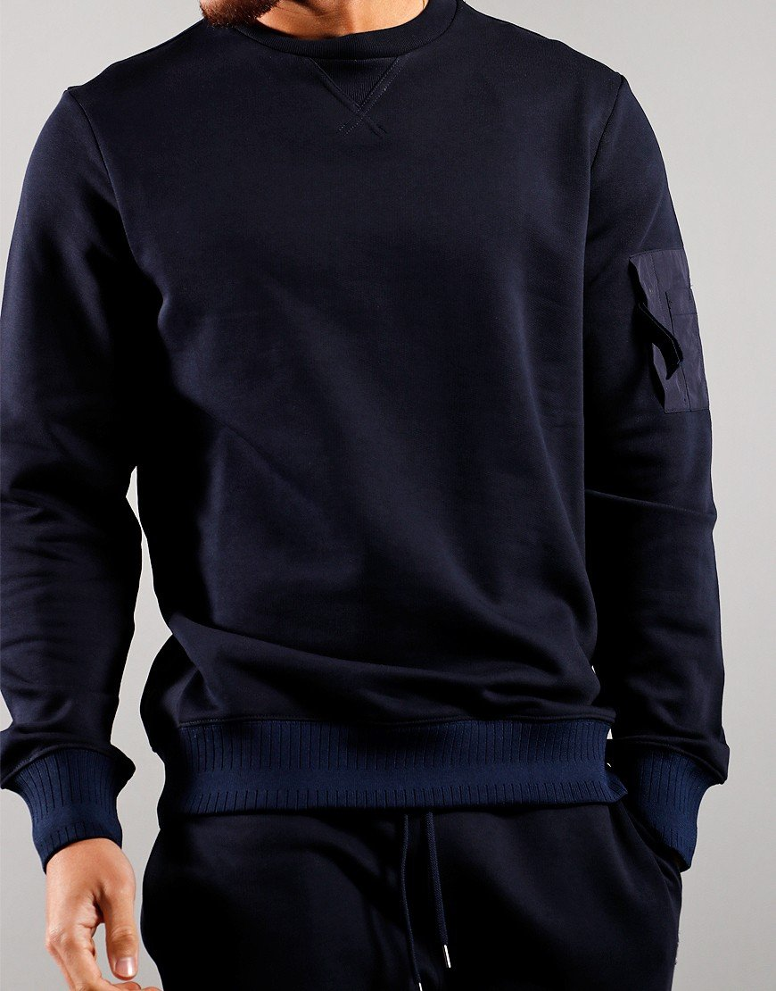Paul Smith Regular Fit Pocket Sweat Dark Navy