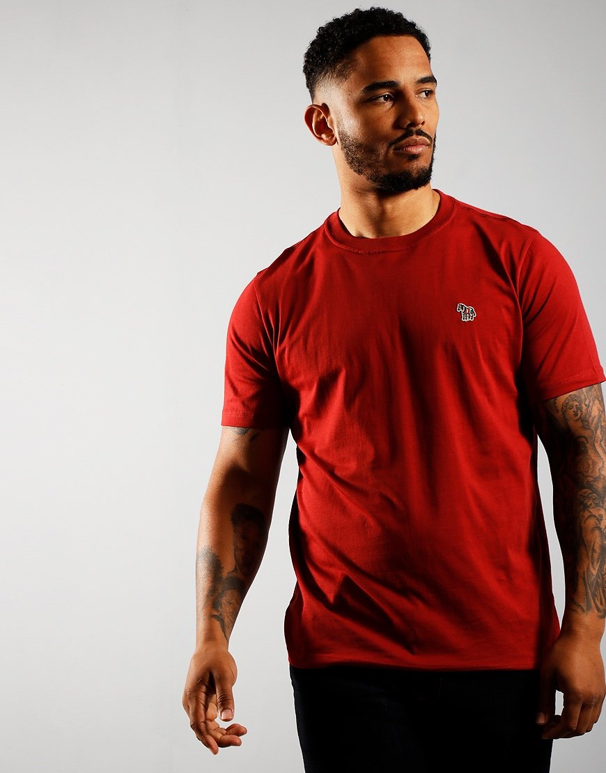 Paul Smith Short Sleeve Regular Fit T-Shirt Burgundy
