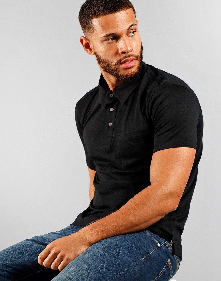 Paul Smith Regular Fit Short Sleeve Polo 79 Black